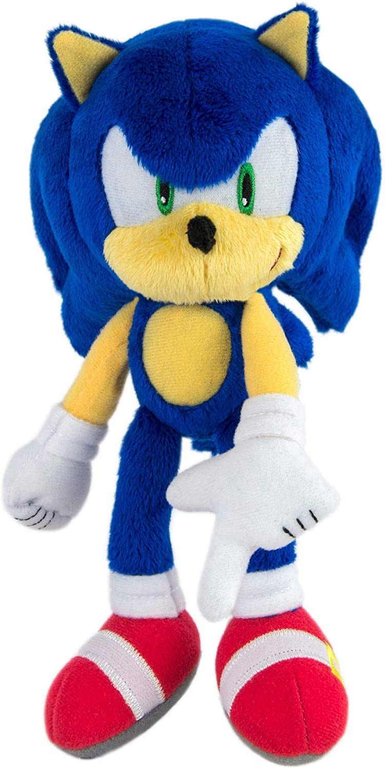 Amazon Com Sonic Modern High Detailed And Embroidered Collectible Plush Toy For Kids Blue 8 Inch Toys Games