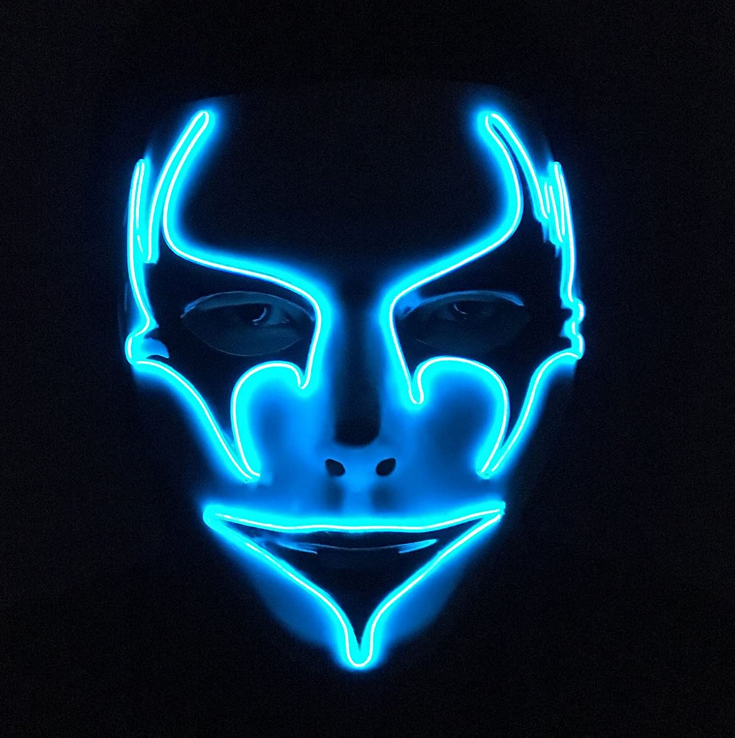 Amazon.com: DevilFace Melbourne Shuffle Light Up Mask EL Wire ...