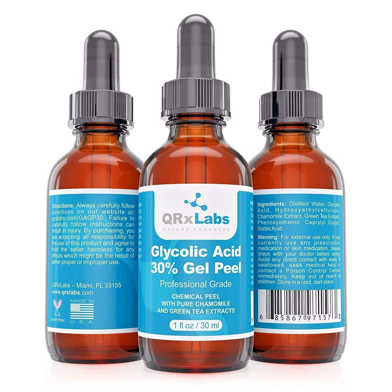 c553c24454570 Buy Glycolic Acid 30% Gel Peel with Chamomile and Green Tea Extracts -  Professional Grade Chemical Face Peel for Acne Scars Online at Low Prices  in India ...