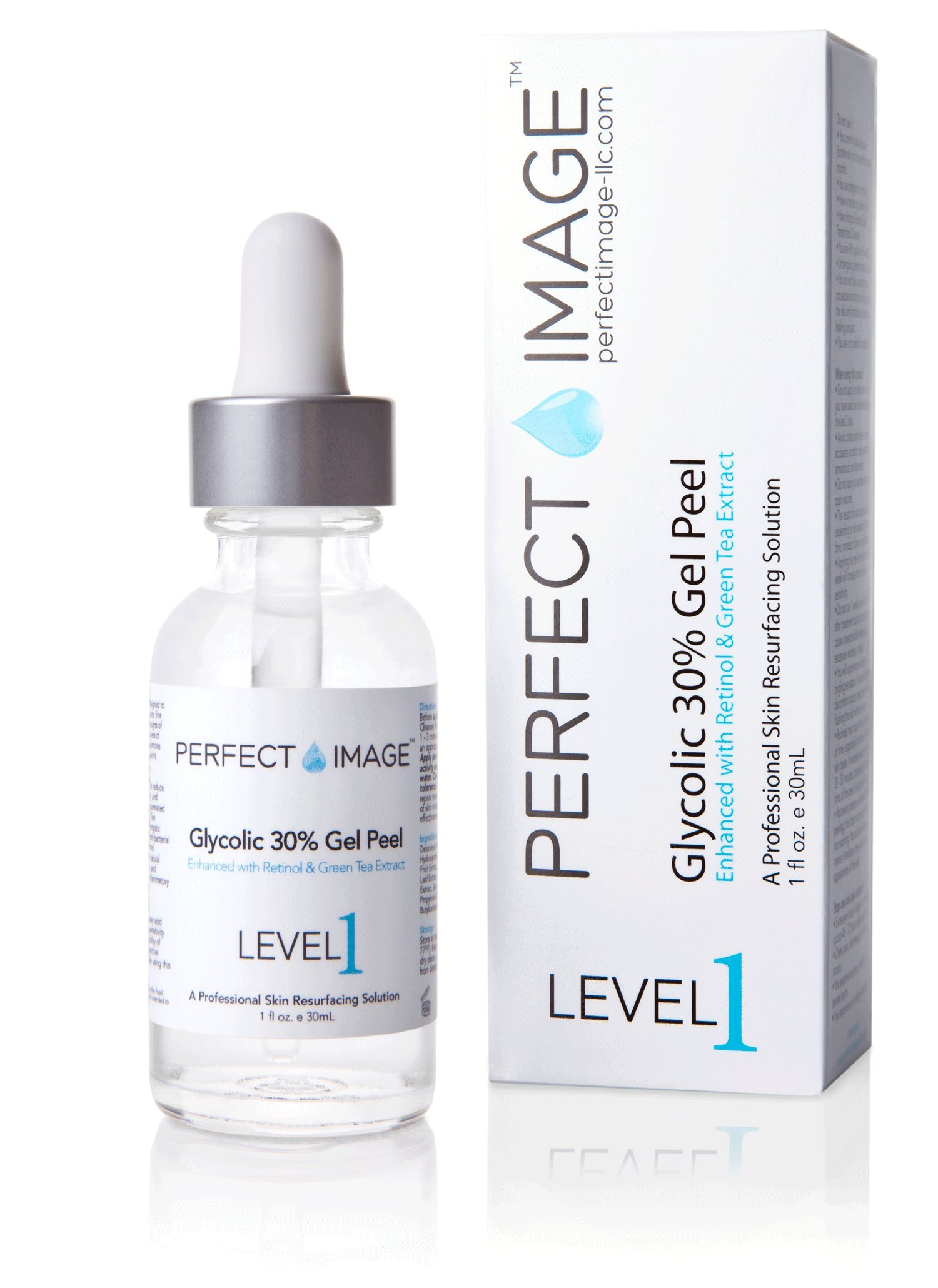 Glycolic Acid 30% Gel Peel - Enhanced with Retinol and Green Tea Extract (Professional Chemical Peel)- 1 fl oz 30mL
