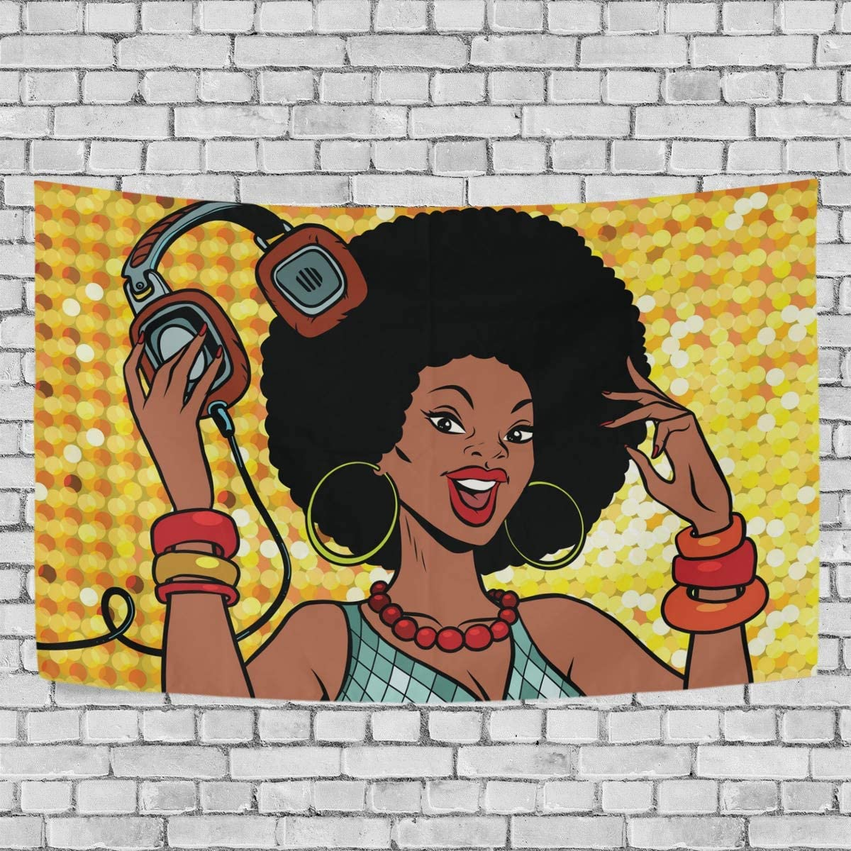 ALAZA Beautiful Woman Vintage Art Tapestry Wall Hanging for Living Room Dorm Bedroom Home Decor