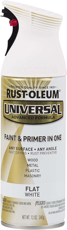 Rust-Oleum 247564 Universal All Surface Spray Paint, 12 oz, Flat White