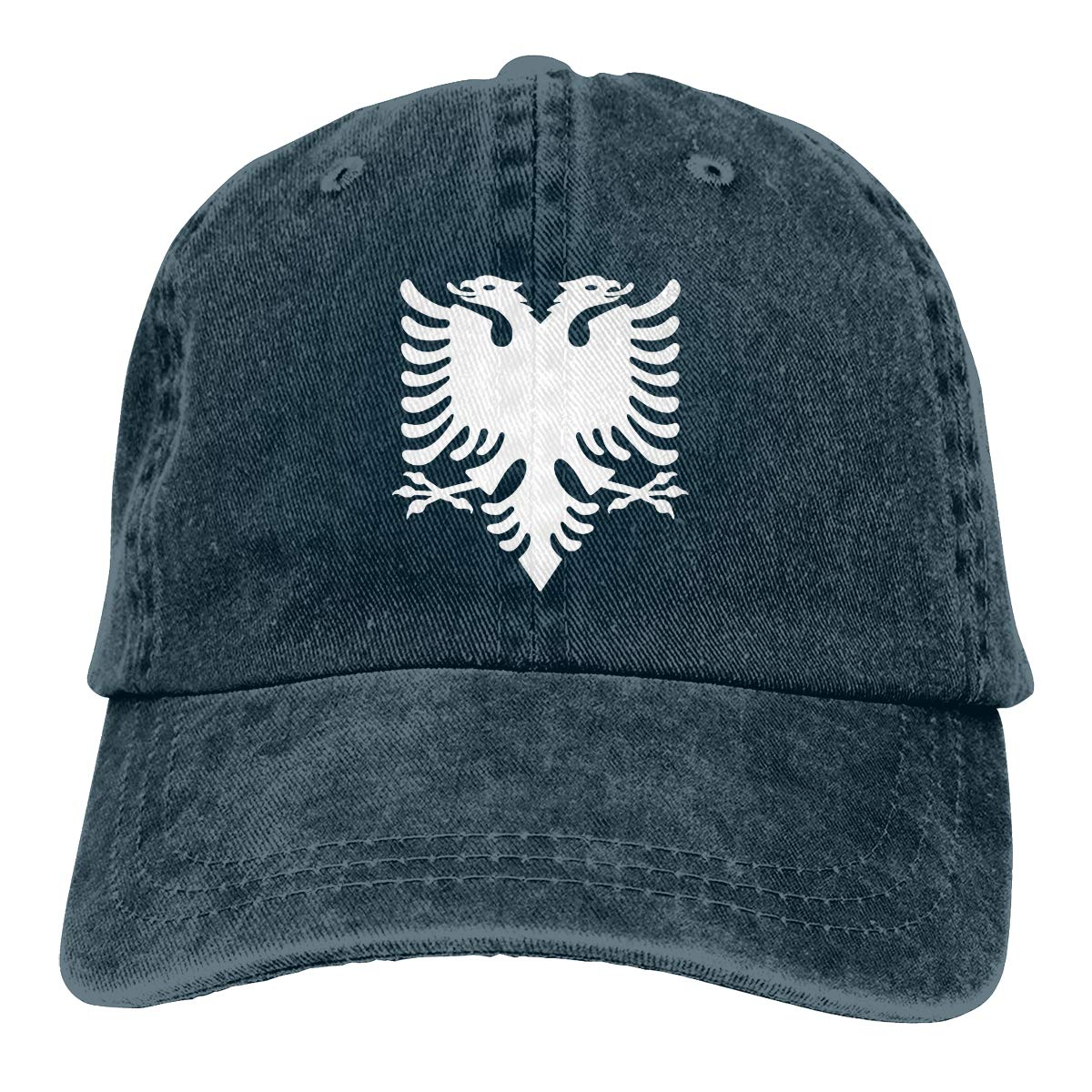 Albanian Eagle Grunge Fashion Adjustable Cowboy Cap Baseball Cap for Women and Men