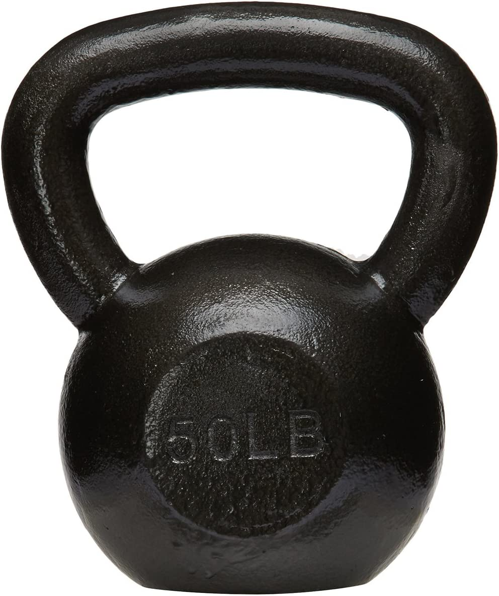 AmazonBasics Cast Iron Kettlebell Weight