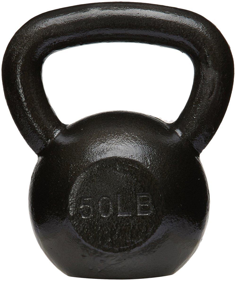 AmazonBasics Cast Iron Kettlebell - 50 Pounds, Black by AmazonBasics