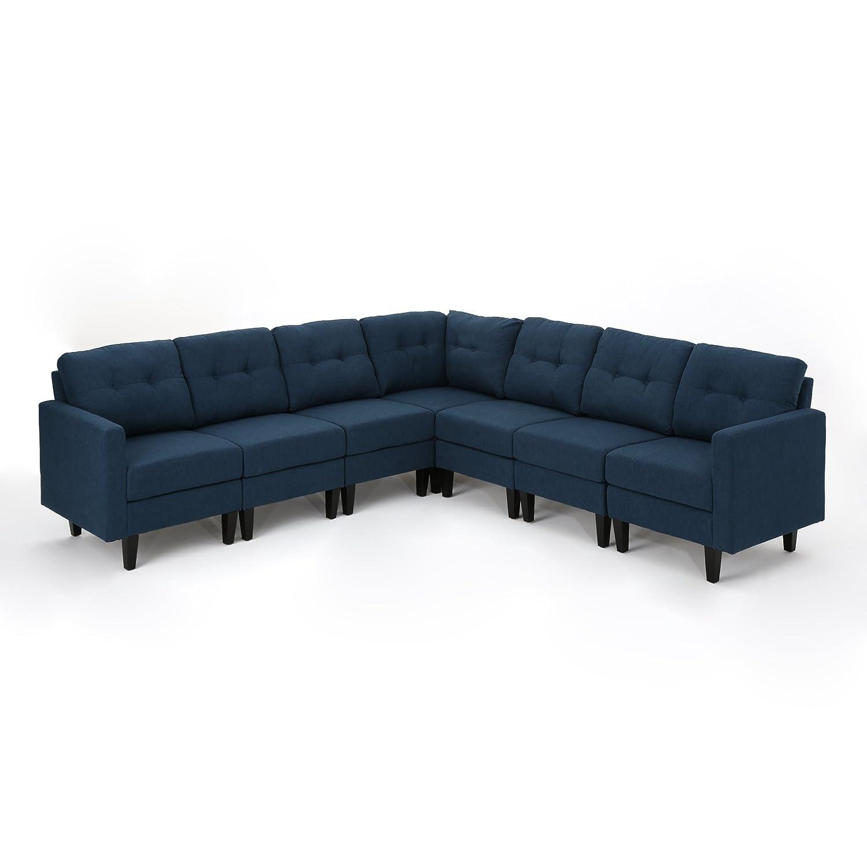 Amazon.com: Emma Mid Century moderno 7 piezas azul marino ...