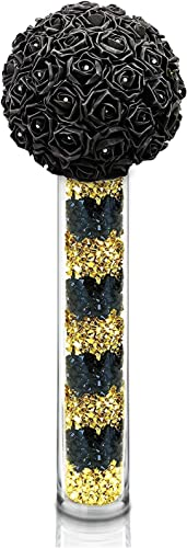 CYS EXCEL Glass Cylinder Vase, Floating Candle Holder, Flower vase, Decorative Centerpiece for Home, Business, Events or Weddings Pack of 1 6 Wide x 32 Tall