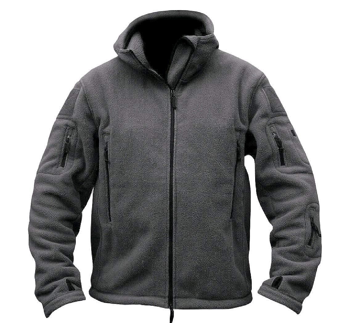 VITryst-Men Leisure Basic Solid Full-Zip Pullover Sweatshirt Top