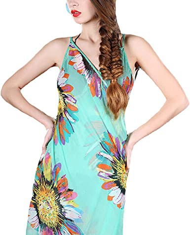 Pareo Beach Cover up Floral Pink Swimsuit Cover Up Swim Accessories