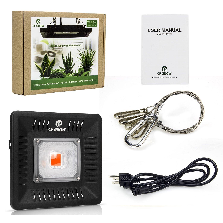 CFGROW 300W LED Pflanzenlampe Vollspektrum Grow Light Wasserdicht IP67 IP67 IP67 fur Indoor Outdoor Pflanzenwachstum Beleuchtung(Ultrad¨¹nn) 988fb0