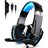 DIZA100 Kotion Each G9000 Gaming Headset Headphone 3.5mm Stereo Jack with Mic LED Light for