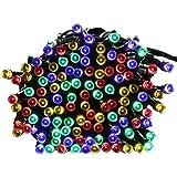 lederTEK - Stringa di Luci a Energia Solare Impermeabile - 22m 200 LED 8 Modi - Lampada Decorativa (200 LED Multi Colore)