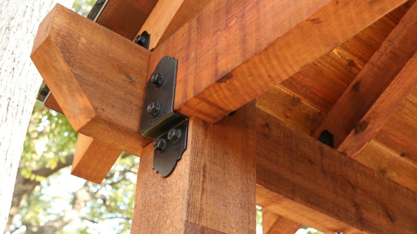 OZCO Ornamental Wood Ties Post To Beam Bolt Offset Laredo Sunset by OZCO (Image #3)