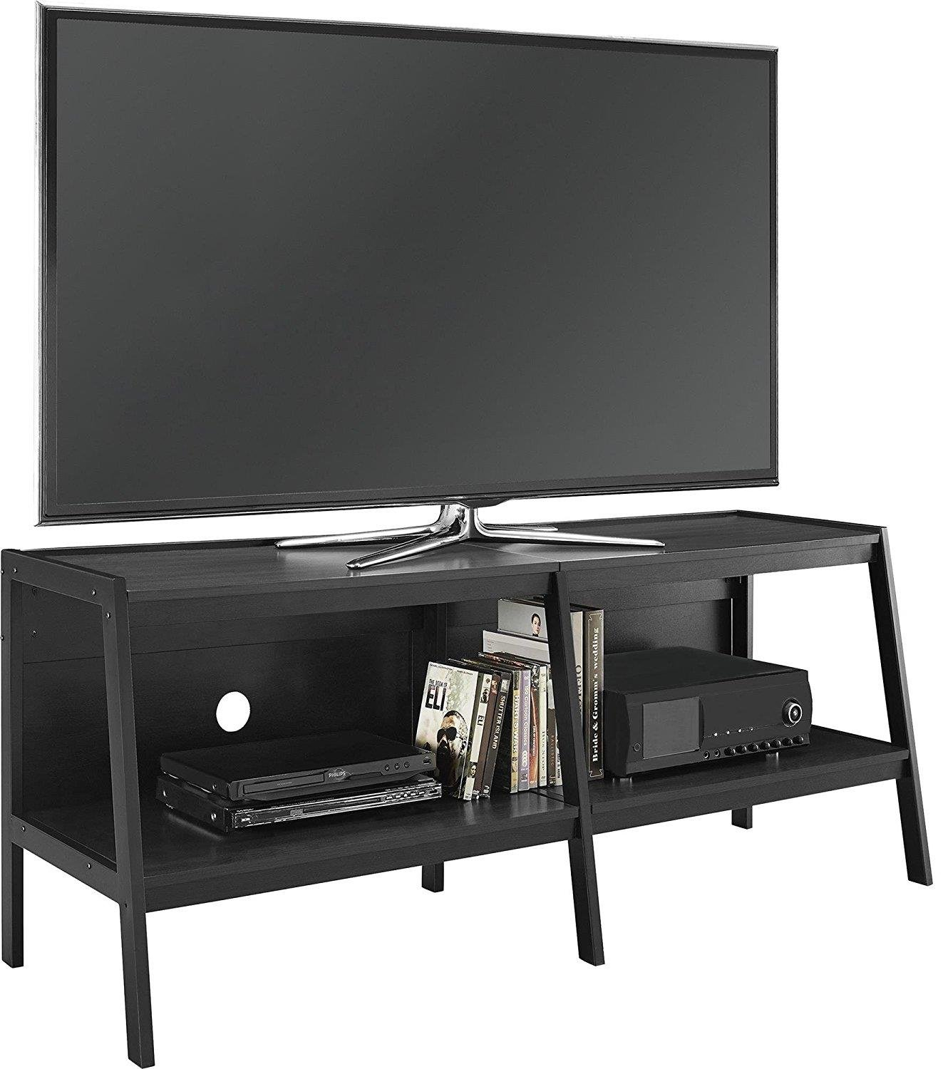 Ameriwood Home Lawrence 60'' Ladder TV Stand, Black by Altra Furniture (Image #3)