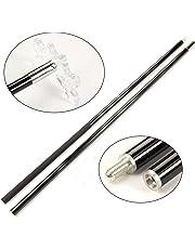 Jonny 8 Ball Black Carbon 2 pezzo Cue resto Stick - facilmente trasportabile