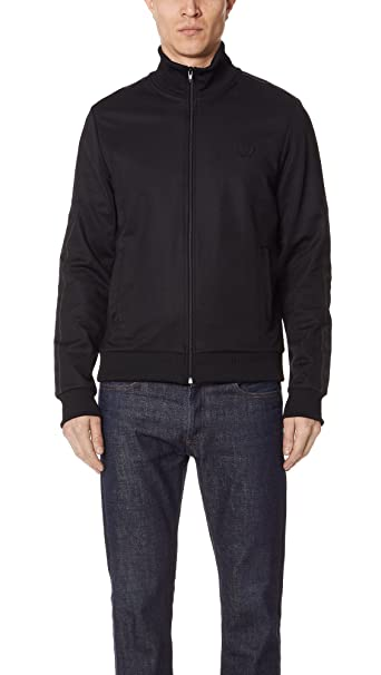 Fred Perry Mens Sports Authentic Mens Black Track Jacket In Size ...