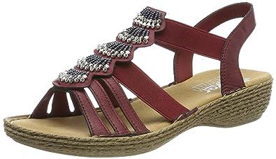 Rieker Damen 65869-35 Geschlossene Sandalen