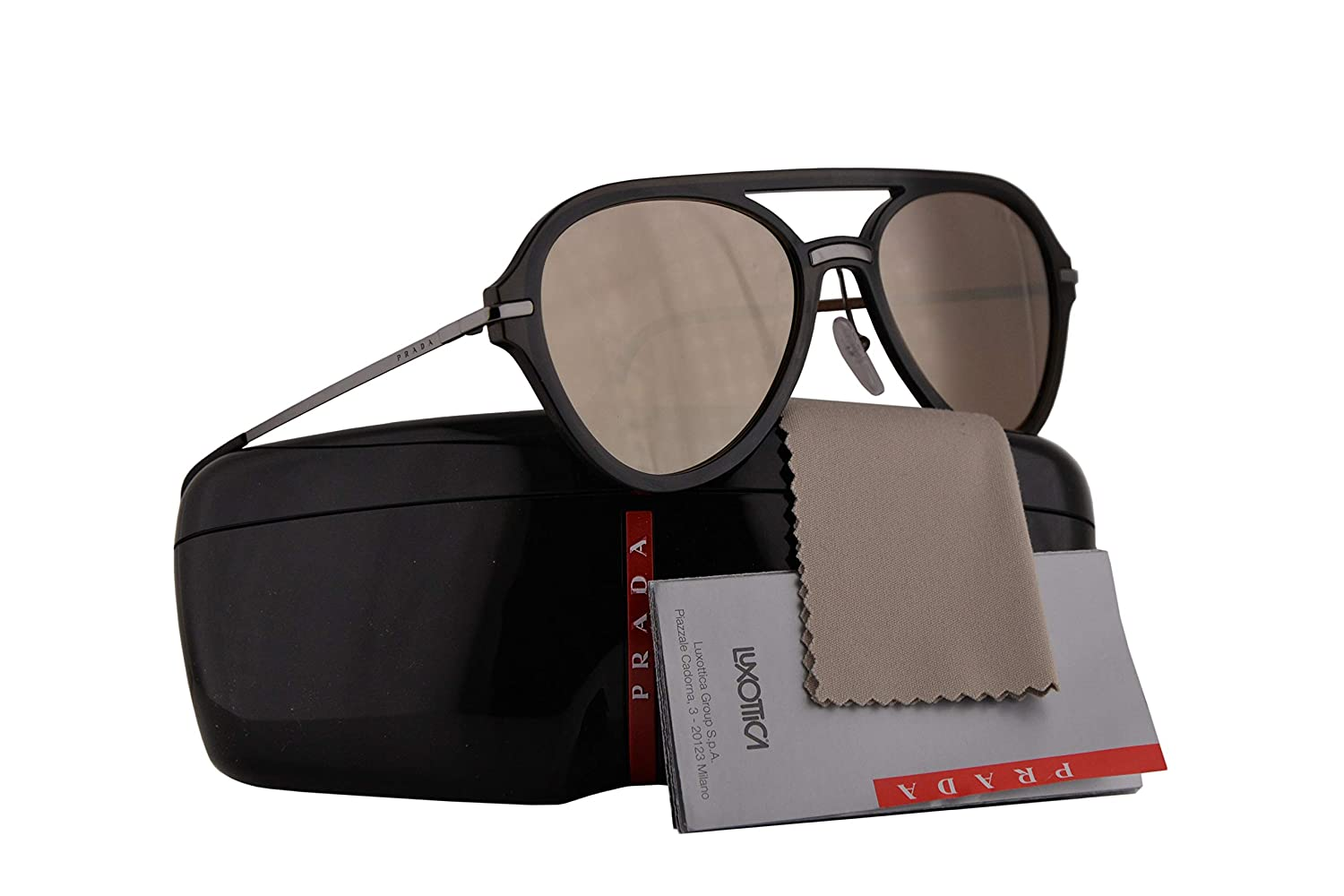 7f190befccad Amazon.com  Prada PS04TS Sunglasses Brown w Dark Brown Mirror Gold Lens  57mm 5N9HD0 SPS04T PS 04TS SPS 04T  Clothing
