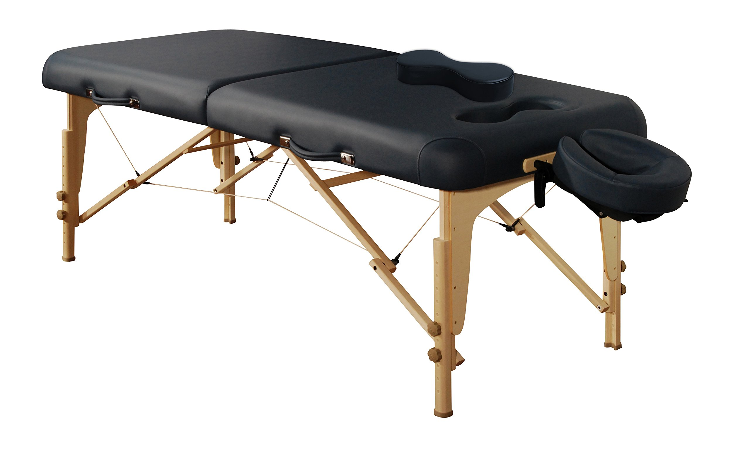 Mt Massage Midas-Girl 30'' Breast Recess Professional Portable Massage Table Package (Agate Blue)