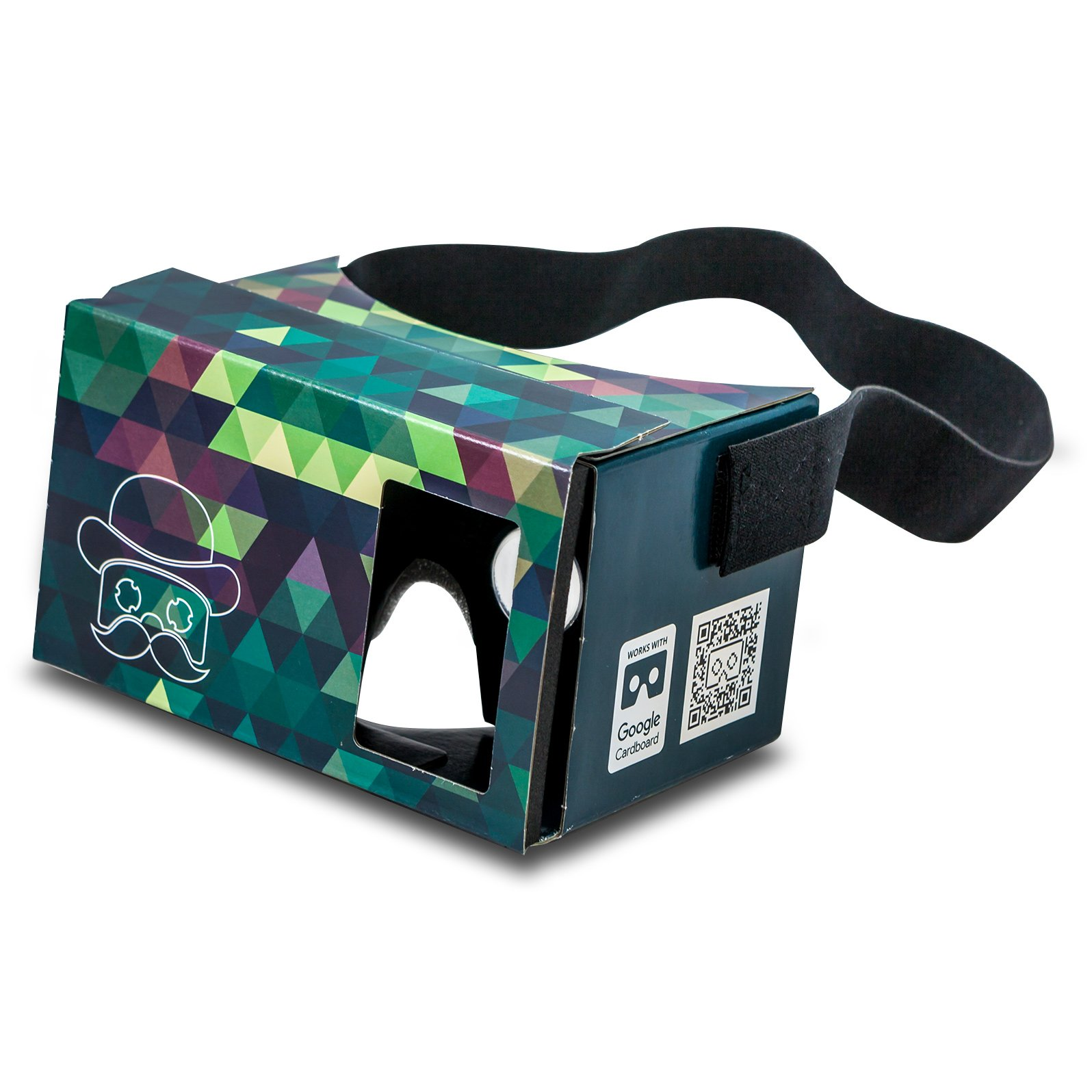 POP! CARDBOARD 3.0 + FREE Head Strap. Made in Germany Inspired By Google Cardboard 2.0. 3d Glasses Virtual Reality Viewer for Any Smartphone / Mobile (Android Samsung S5 S6 Apple Ios Iphone 6 Plus). On Set Including Lenses. No Kit, No Assembly: Fold It up
