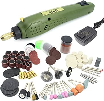 105Pcs Drill Bit Rotary Tool Accessory Kits Set Polishing Grinding Cut Engrave