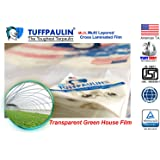 TUFFPAULIN (6x6 ft, Transparent) Tarpaulin Sheet Waterproof |UV Treated|Multi Layered-Cross Laminated|Virgin Plastic Extra Strong Tirpal Tarpal IS14611:2016 Approved (120 GSM)