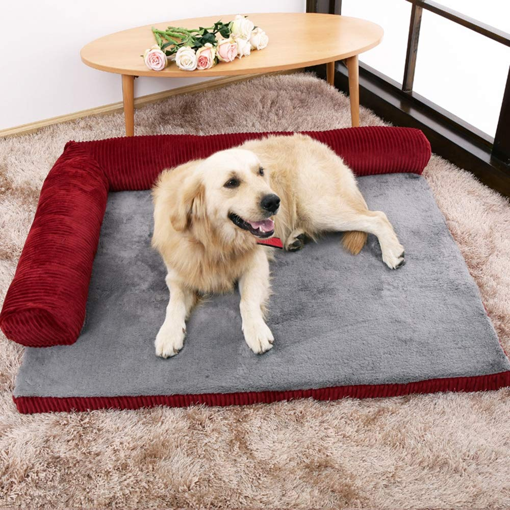 Red X-Large Red X-Large Pet bed warmer Pet Mat Winter Thick Warm Dog Blanket Dog Mat Dual Use Pet Cushion Sofa Cushion,Red,XL
