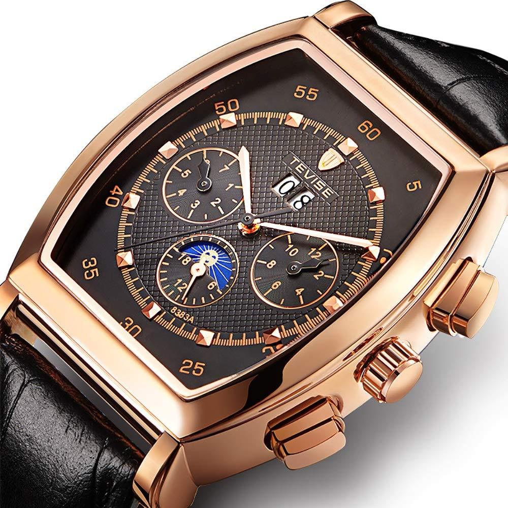Klocka mekanisk klocka för män kvinnor vattentät armbandsur multifunktionell lätt affärsklockor JFYCUICAN 02vit