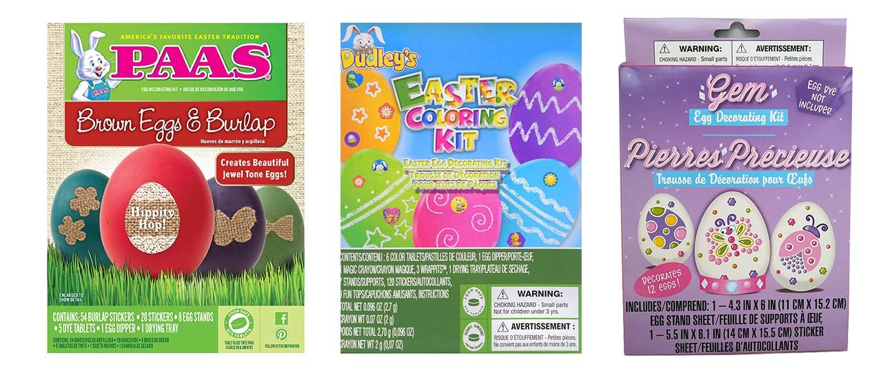 Amazon.com: Easter egg color kits - Easter egg dye Variety Packs - 3 Pack (burlap-gem-coloring): Toys & Games