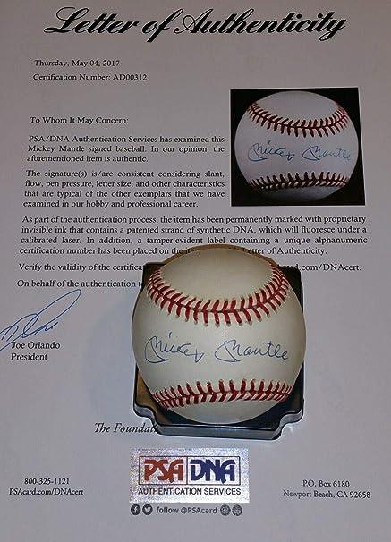 29f8b799c Autographed Mickey Mantle Baseball - single - PSA/DNA Certified -  Autographed Baseballs