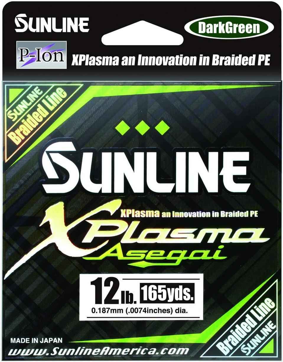 5028 Sunline Asegai Xplasma Braided Linie 165yds P.E 1.5 16lb Light Green