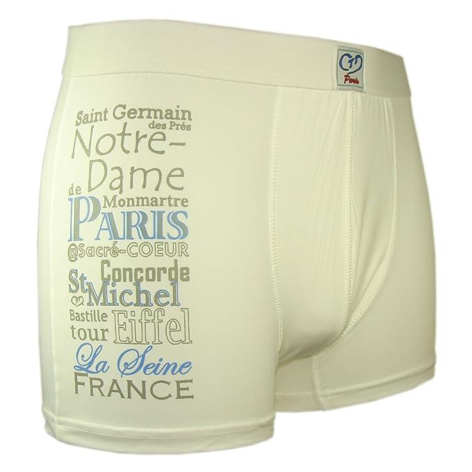 Souvenirs of Paris Pantalón Corto - Estampado - para Hombre Blanco Blanco Small