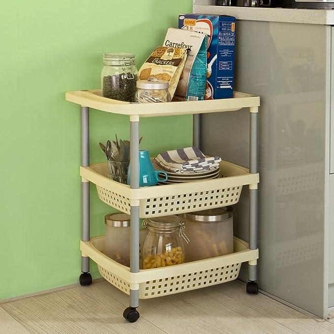 SoBuy® baño estante, carrito, almacenamiento carro, técnicos ...