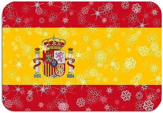 1Zlr2a0IG Calzado Exterior Antideslizante Color Dot Felpudo España Invierno Copo de Nieve Bandera Blanco Alfombrillas gráficas Alfombras de Entrada Alfombra 16 24 Pulgadas: Amazon.es: Hogar
