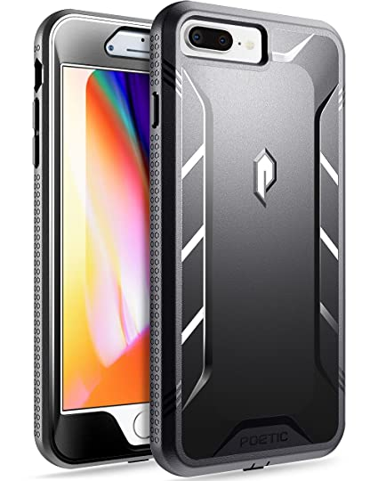 best service 893e3 f413a iPhone 7 Plus / iPhone 8 Plus Case, Poetic Revolution [360 Degree  Protection]- Full-Body Rugged Heavy Duty Case w/ Built-in-Screen Protector  for ...