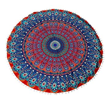 Amazon.com: Cinidy Round Large Mandala Floor Pillows Round Bohemian ...