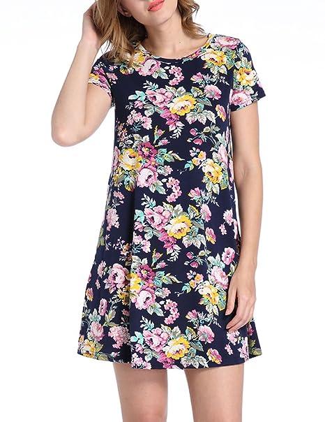 purchase cheap 6d017 cadde Battercake Donna Vestiti Estivi Corti Elegante Manica Corta ...