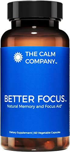 Better Focus – Nootropics Brain Support Supplement Memory, Clarity, Energy Focus Pills Ginkgo Biloba, NeuroFactor, Bacopa Monnieri Root, DMAE, TheaKalm More Brain Booster 60 Vegan Caps