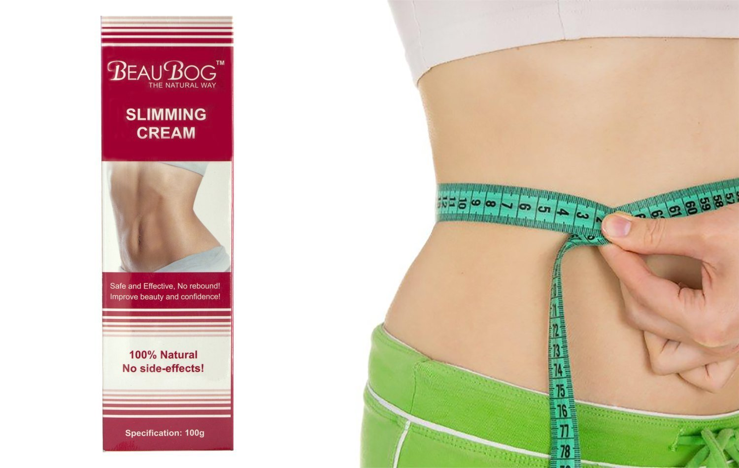 BeauBog (TM) Most advanced 100% Natural and effective slimming cream of the brands of natural beauty