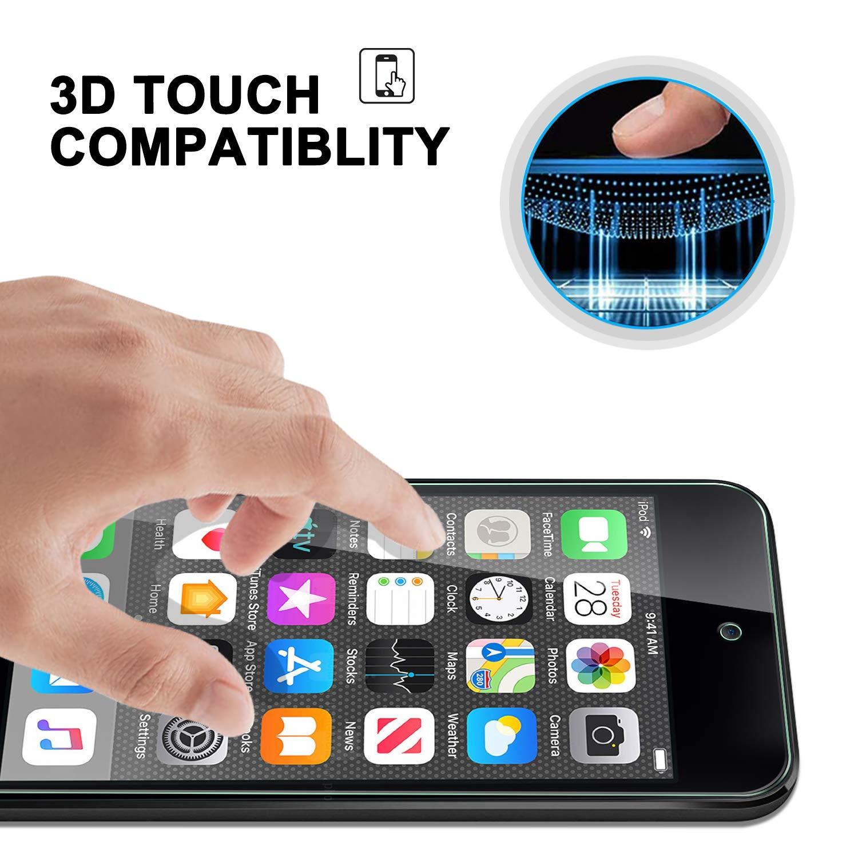 2 St/ück geh/ärtetes Glas Displayschutz Glasfolie Panzerfolie f/ür iPod Touch 2019 ELTD Glas Displaysfolie f/ür iPod Touch 2019,Rounded Corners 2.5D 9H H/ärte