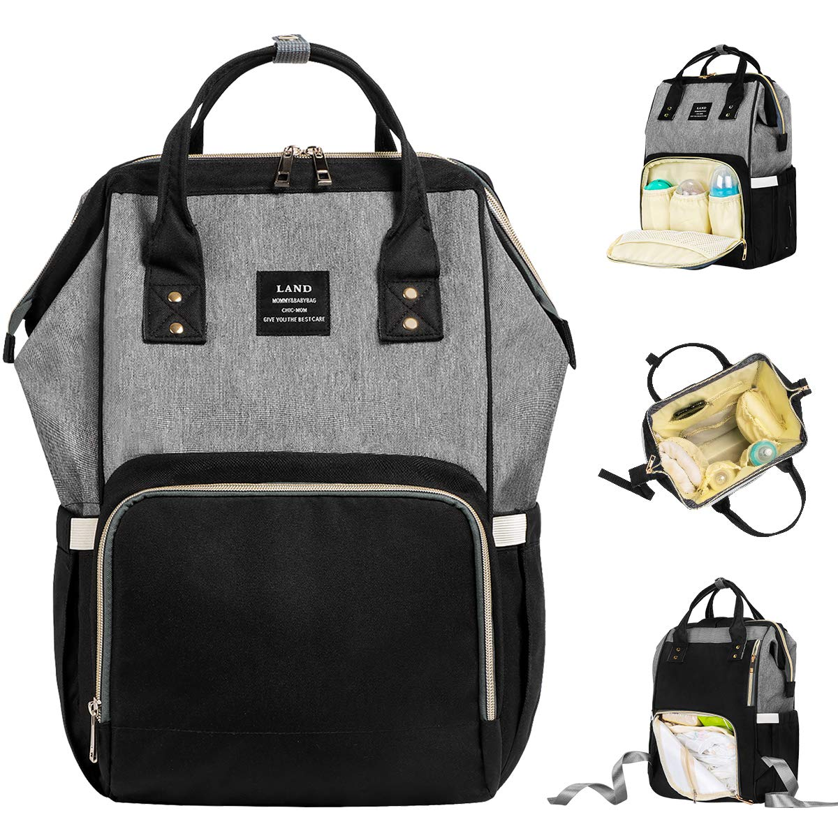 9d966cd774b1 Amazon.com   Landuo Diaper Bag Multi-Function Waterproof Travel Backpack  Large Nappy Bags for Baby Care