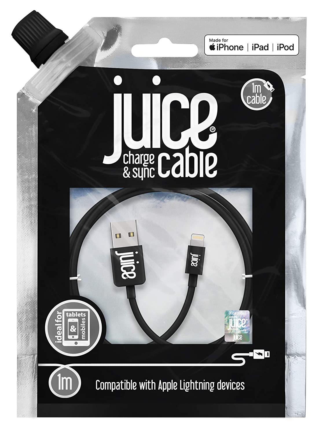 Juice 1 Metre Lightning Charge And Sync Cable For Apple Amazonco Kabel Untuk Iphone Ipad Ipod Electronics
