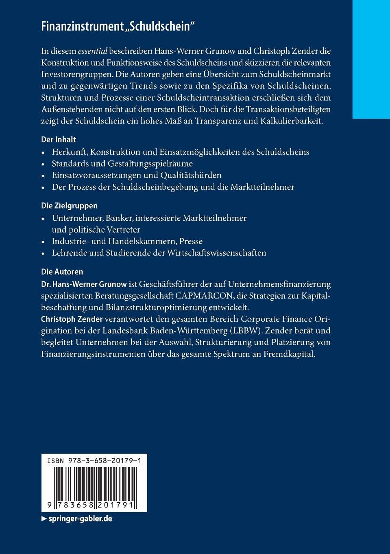 """Amazon.com: Finanzinstrument """"Schuldschein"""": Attraktiver Baustein ..."""