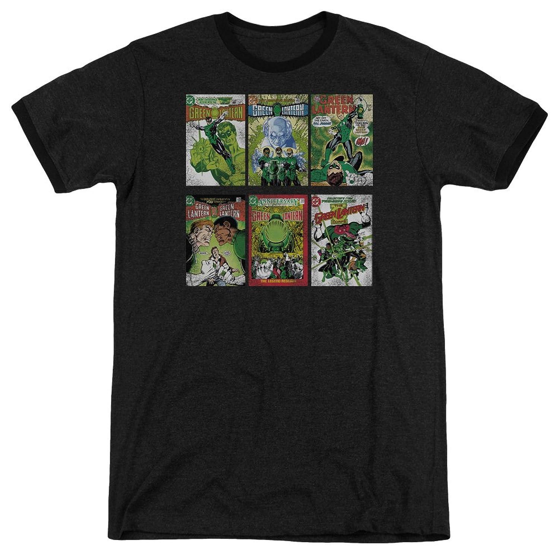 Green Lantern Men's Gl Covers Ringer T-Shirt