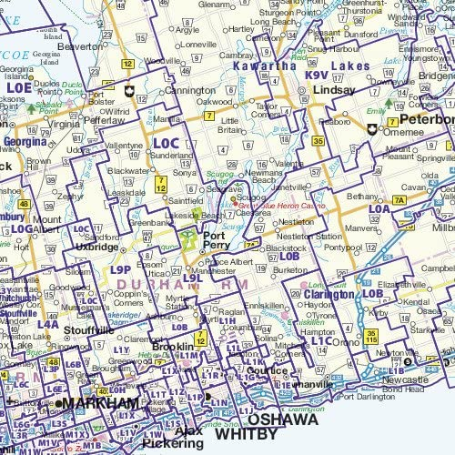 Office & School Supplies Large 50 x 37.5 Paper Wall Map Ontario ...