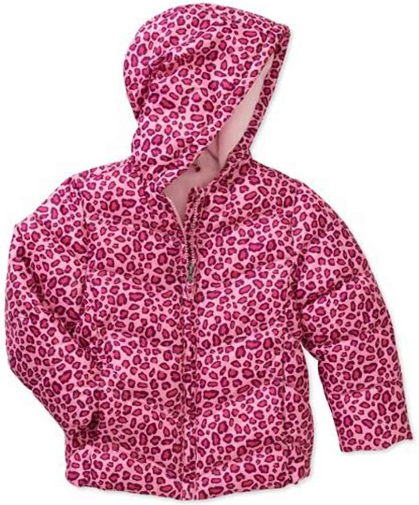 Healthtex Infant Girls Pink Leopard Print Winter Coat Bubble Puffer Jacket 18m