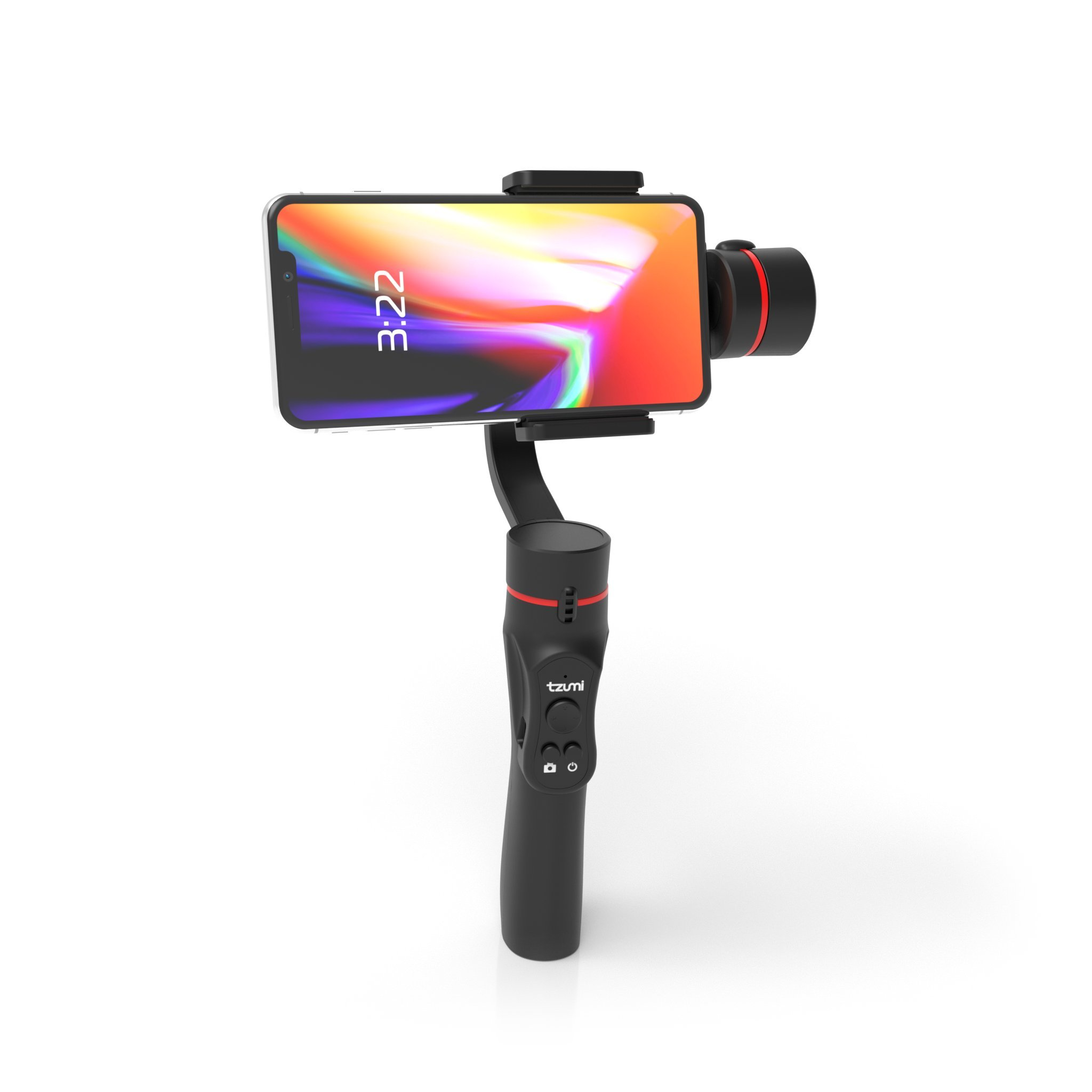 Tzumi SteadyGo Smartphone Stabilizing Gimbal – Motorized Rechargeable 3-Axis Handheld Gimbal For Smooth, Steady Digital Photography and Advanced Video Filming Techniques by Tzumi