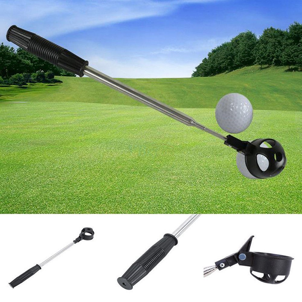 MarketBoss Retractable 15.74''/40cm to 78.74''in/2m Golf Ball Pickup Retriever Pick up Stainless Steel Telescopic Scoop Pick up by MarketBoss (Image #6)