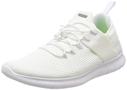 super popular 755e6 673a5 NIKE Women Free RN CMTR 2017 7.5 M White Running Shoes Adjustable Elastic  Straps