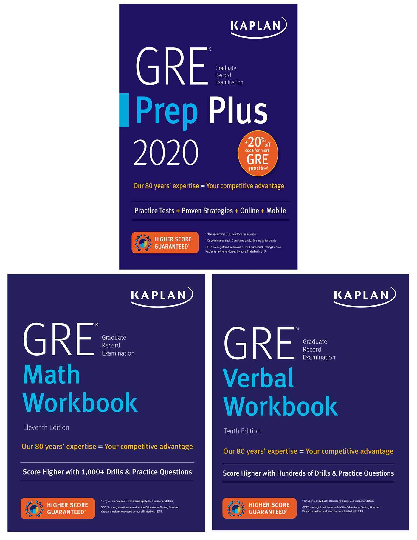 GRE Complete 2020: 3-Book Set: 6 Practice Tests + Proven Strategies + Online (Kaplan Test Prep) by Kaplan Publishing